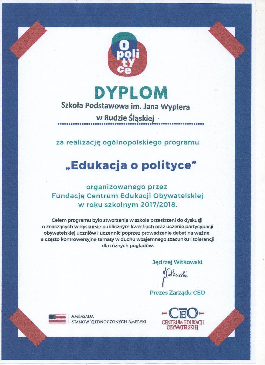 Dyplom polityczny